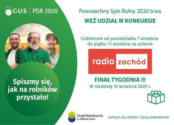 Konkurs Radiowy  poświęcony Powszechnemu Spisowi Rolnemu