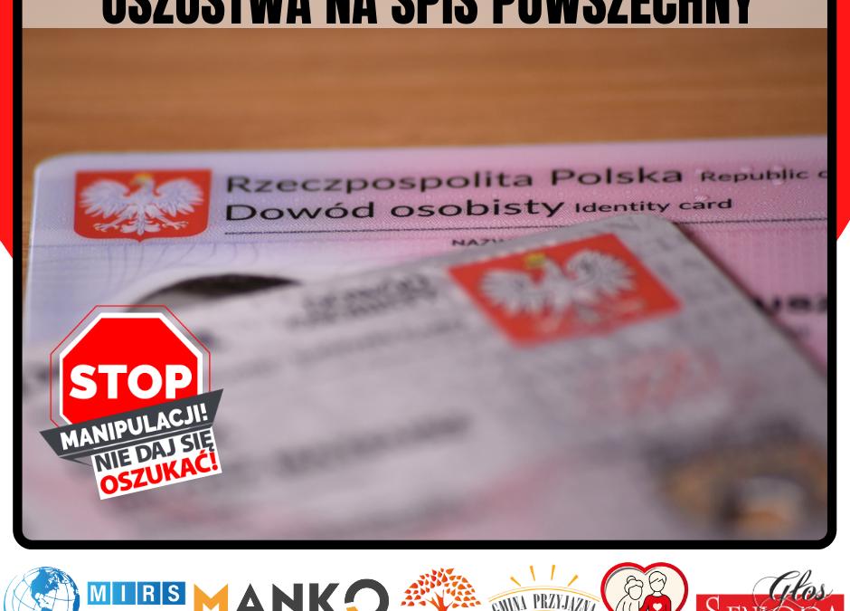 Oszustwa na spis powszechny Stop Manipulacji – nie daj się oszukać!