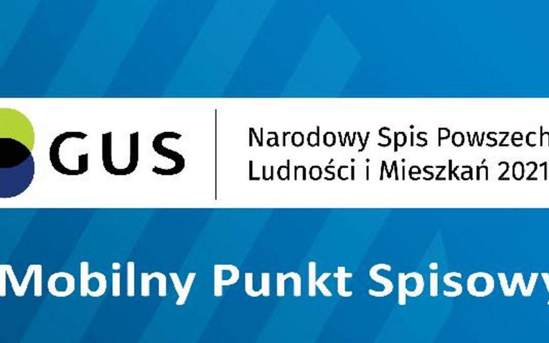 Mobilny Punkt Spisowy w Tuplicach 3 Lipca 2021 roku.
